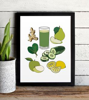 green-food-poster