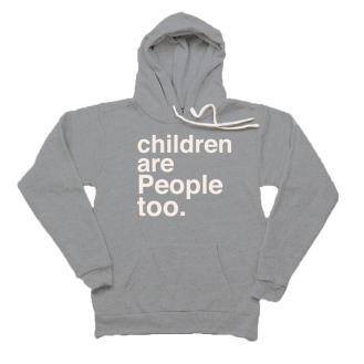 children's rights grey hoodie