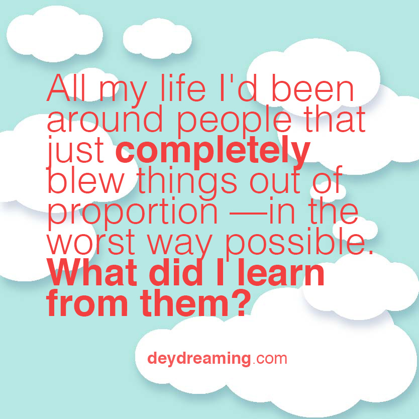 deydreaming Cloud Thoughts motivational quote