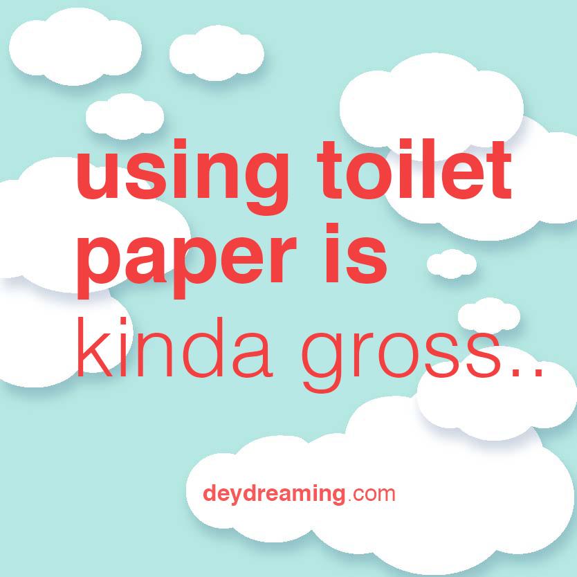 using toilet paper is kinda gross
