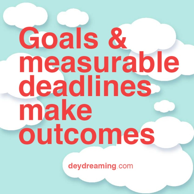 Goals measurable deadlines and outcomes