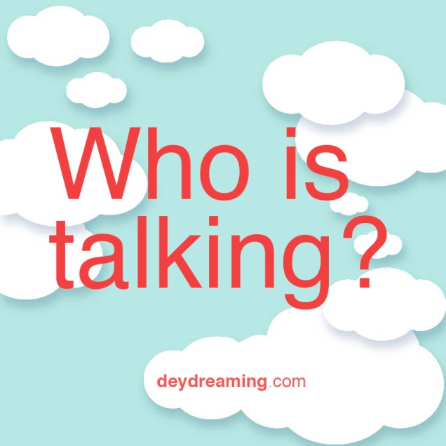 Who is talking