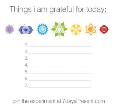 mindfulness and meditation 7daysPresent gratitude experiment