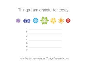 7daysPresent gratitude experiment