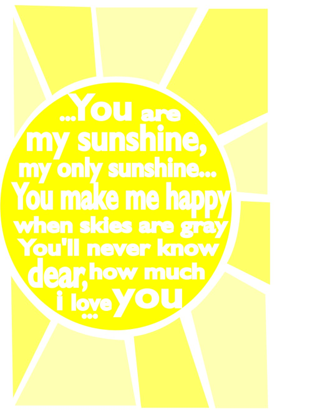 you-are-my-sunshine-poster