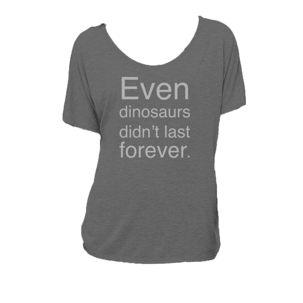 Even_dinosaurs_didnt_last_forever--bella-canvas--deydreaming tshirt