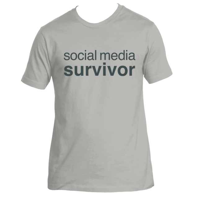 social-media-survivor---facebook-snapchat-twitter- instagram-deydreaming tshirt