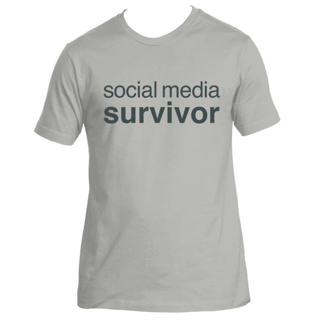 social-media-survivor---facebook-snapchat-twitter- instagram-deydreaming tshirt
